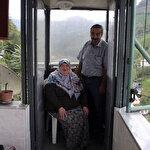 Fedakar koca eşi için asansör yaptı
