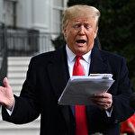 ABD Başkanı Trump, keçeli kalemle aldığı notlarla basının karşısında