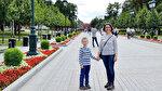 Çocukla masalsı Moskova'da