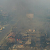 Terrifying aerial footage shows destruction after massive forest fire in Turkey