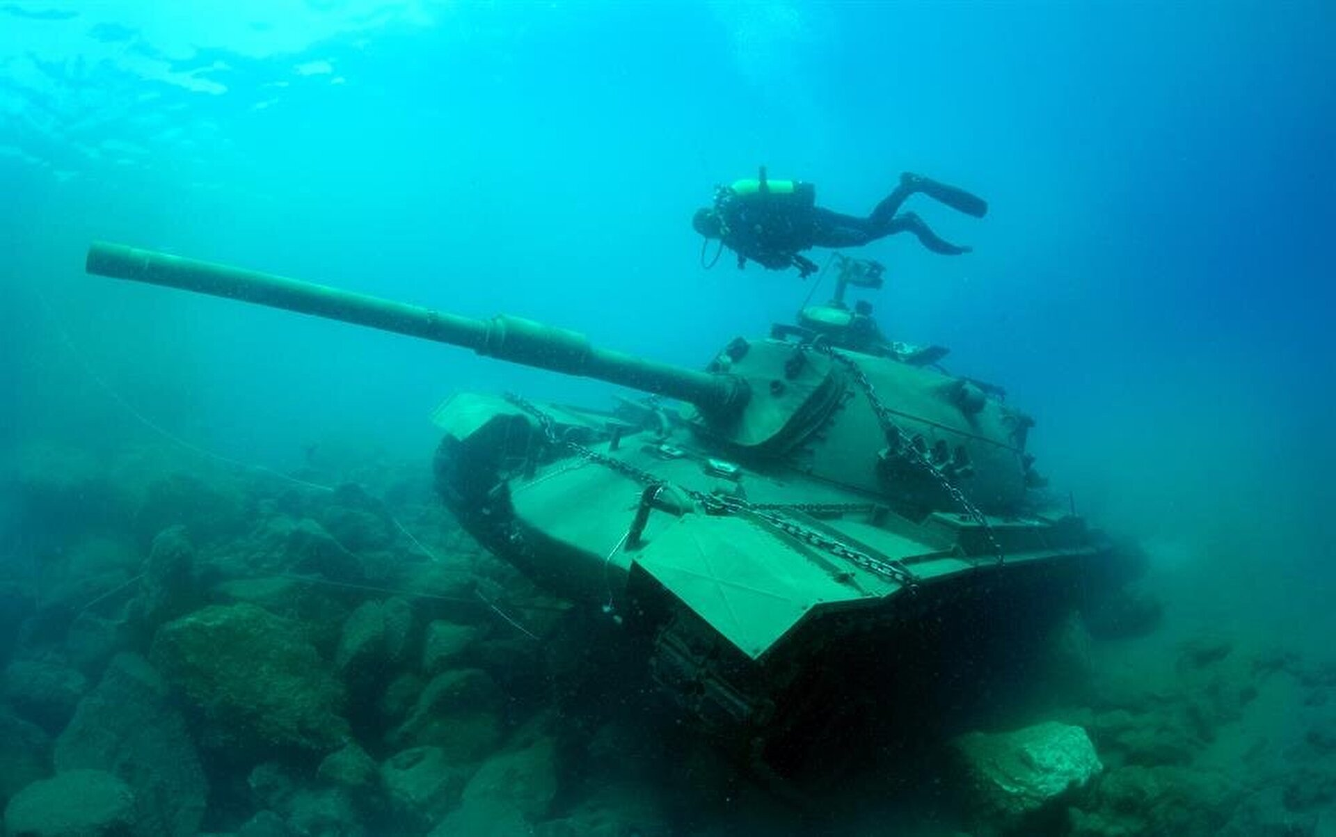 45 ton tank from 60s found in the Mediterranean