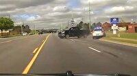 ABD polisi şüpheli kamyoneti çarparak durdurdu