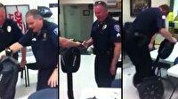 Polislerin segway ile imtihanı