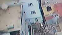 Cizre'deki PKK sığınağını İHA görüntüledi
