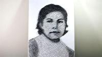 400'den fazla çivi ile annesinin portresini yapan genç