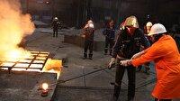 Karabüksporlu futbolcular  çelik fabrikasını gezdi