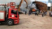 Samsun'da kereste fabrikasında yangın!