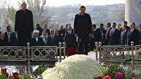 Cumhurbaşkanı Erdoğan Kerimov'un kabrini ziyaret etti