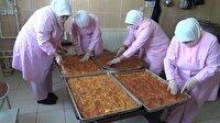 Yozgatlı kadınlardan El Bab'daki askerlere yöresel yiyecek