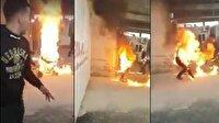 Yunanistan'da sınırdışı edilmek istenen Suriyeli kendini yaktı