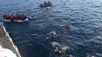 Akdeniz'de bin 350 göçmen boğulmaktan kurtarıldı