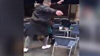 Taraftar acımasızca yaşlı adama saldırdı!