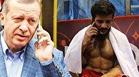 Cumhurbaşkanı Erdoğan, Avrupa şampiyonu güreşçiyi tebrik etti