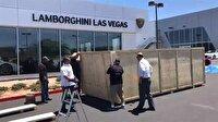 7 milyon liralık Lamborghini'nin kutudan çıkma anı