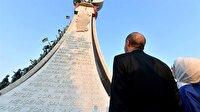 Cumhurbaşkanı Erdoğan Beştepe'deki Şehitler Abidesi'ni açtı