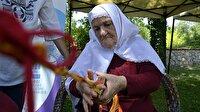 76 yaşında çarpana dokumacılığı öğrendi