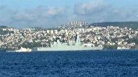İngiliz kraliyet donanmasına ait gemi boğazdan geçti