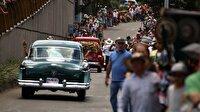 Kolombiya'nın antika arabaları görenleri şaşırttı