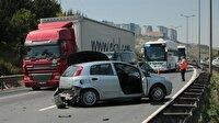 Anadolu Otoyolu'nda zincirleme trafik kazası: 2 yaralı