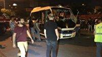 Ataşehir'de otomobil yolcu minibüsüne çarptı: 4 yaralı
