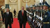 Cumhurbaşkanı Erdoğan Kazakistan'da böyle karşılandı