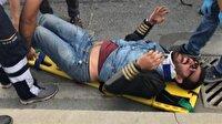 Yaralı motosiklet sürücüsü isyan etti: Ne kadar cahil şoför var