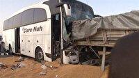 Yolcu otobüsü mısır yüklü TIR'a çarptı: 3 ölü