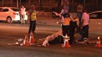 Otomobil kağıt toplayıcısına çarptı: 1 ölü, 4 yaralı