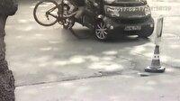 Profesyonel bisikletçinin ölümden döndüğü an kamerada