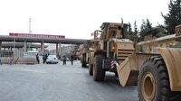Askeri iş makineleri Cilvegözü Sınır Kapısı'ndan geçti