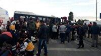 Kocaeli'de servis midibüsü ile tır çarpıştı: 21 yaralı