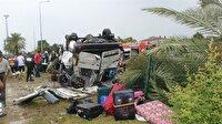 Antalya'da tur minibüsü devrildi: 3 ölü, 11 yaralı