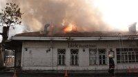 Tarihi Rumeli Hisarı İskelesi'nde yangın