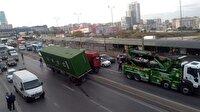 E-5'te TIR kazası trafiği kilitledi! İstanbul haber