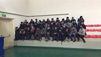 Otomobille çarpışan otobüsten 127 kaçak göçmen çıktı-Kastamonu haber