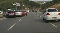 Şile yolunda akılalmaz kaza kamerada!