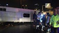 Kadıköy'de otobüs devrildi: 2 ölü; 18 yaralı