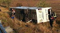 Yolcu otobüsü devrildi: 3 kişi öldü