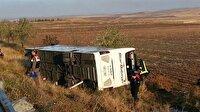 Son dakika Ankara haberleri: Ankara'da yolcu otobüsü devrildi!