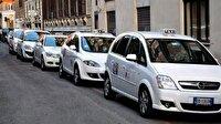 İtalya'da taksiciler greve gitti