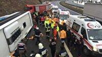 Ankara'da yolcu otobüsü kazası