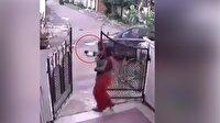 Üzerinden araba geçen küçük kız böyle kurtuldu