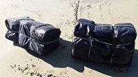 Çanakkale'de sahilde bulunan 51 valizden 700 kilogram esrar çıktı