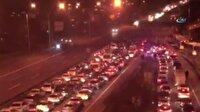 15 Temmuz Şehitler Köprüsü'nde trafik durdu