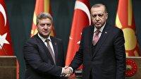 Cumhurbaşkanı Erdoğan'dan Makedon mevkidaşı İvanov için akşam yemeği
