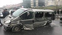 Bağcılar'da zincirleme trafik kazası: 10 yaralı - İstanbul Haber