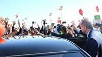 Cumhurbaşkanı Erdoğan'a Novakşot'ta coşkulu karşılama
