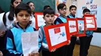 Azerbaycanlı öğrencilerden Afrin'deki Mehmetçik'e mektup