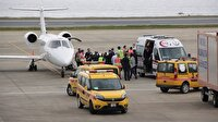 Ambulans uçak 'acil' koduyla iniş yaptı
