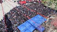 Afrin şehidini on bin kişi uğurladı